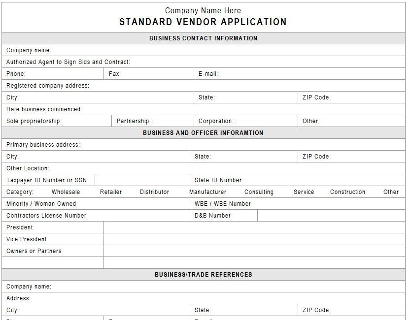 new account application form template
