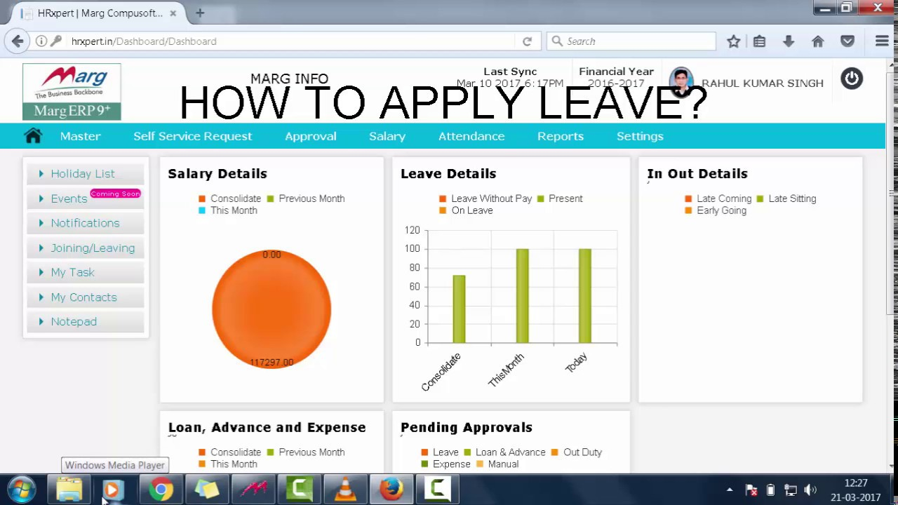 application for leave in english