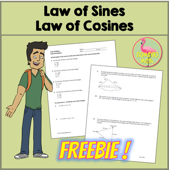 law of sines application problems worksheet