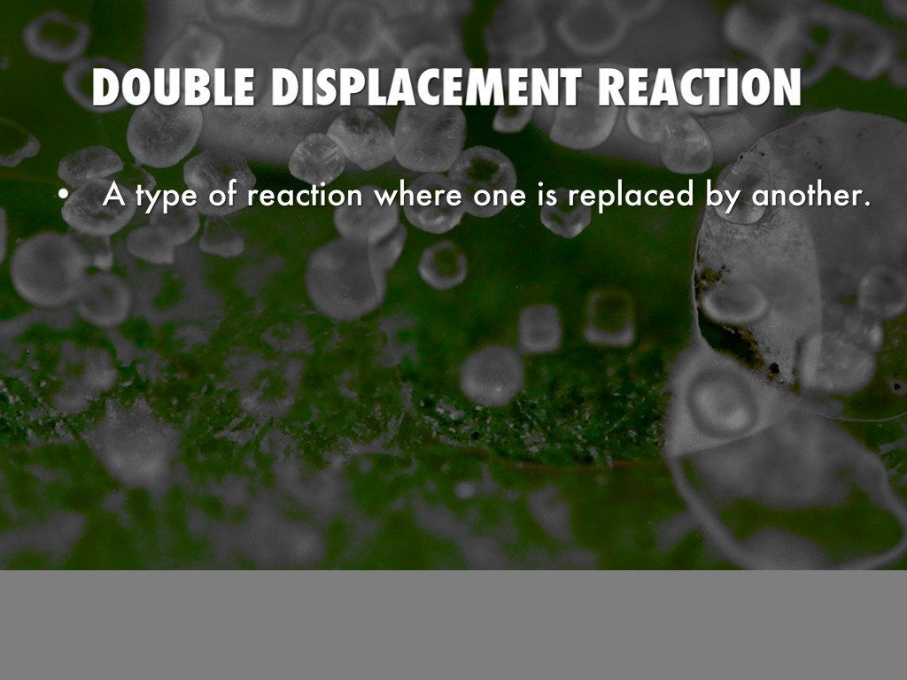 application of double displacement reaction