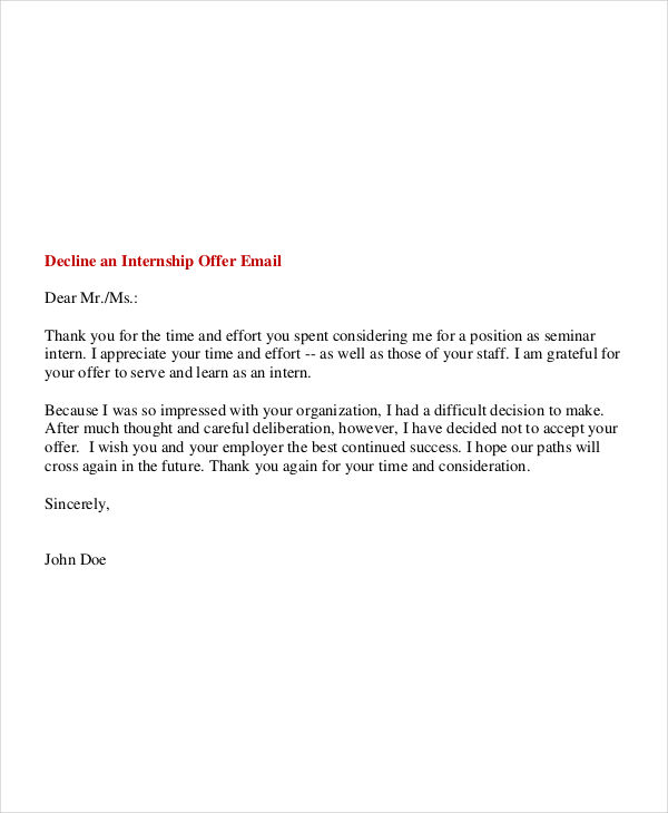 how to write email for internship application