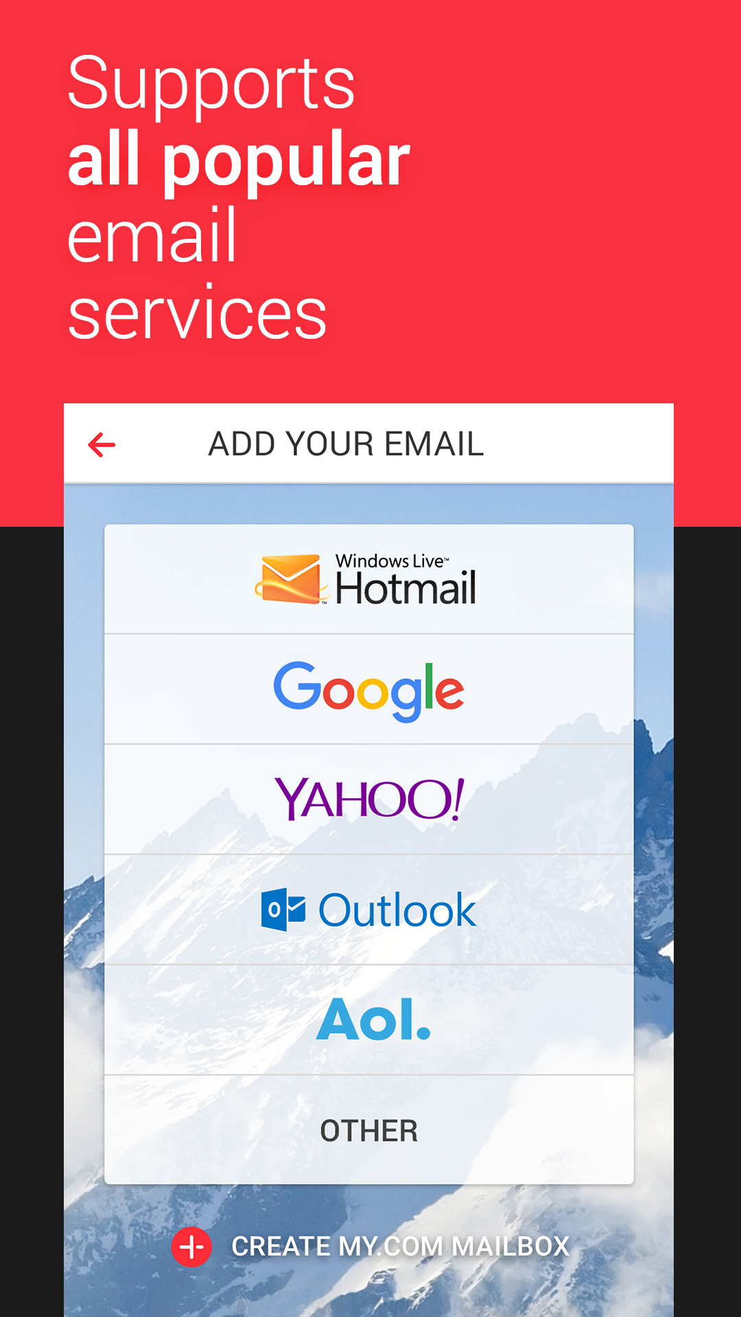 application yahoo mail pour android
