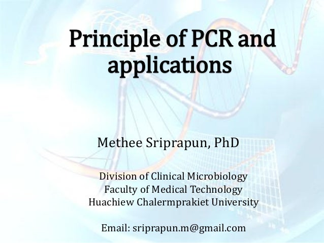 pcr principle and application ppt