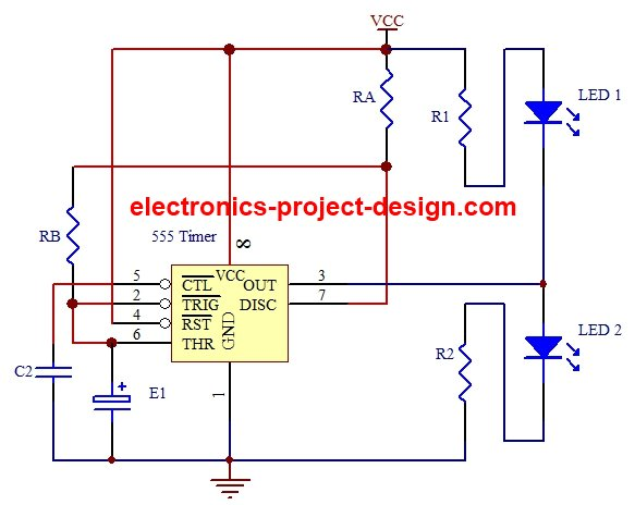 applications of led flasher circuit