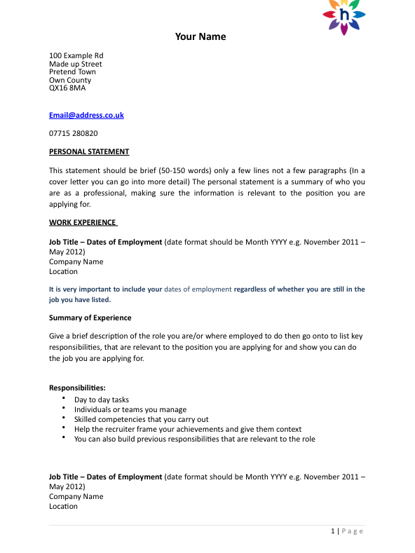 job application email sample for experience