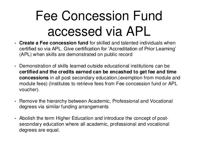 fee concession application in english from parents