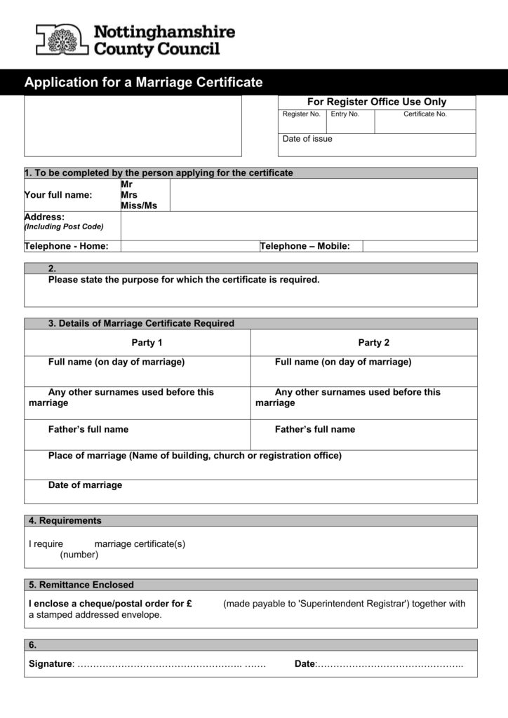 application for marriage certificate alberta