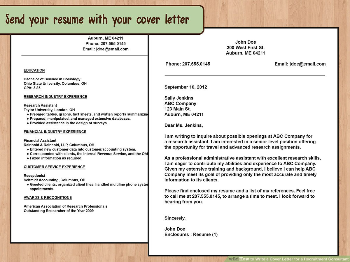 how to write an email cover letter for job application
