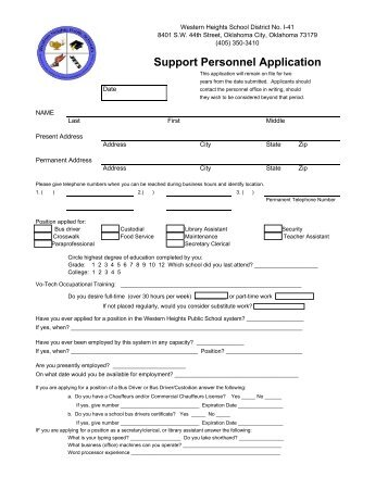 application for direction of school support