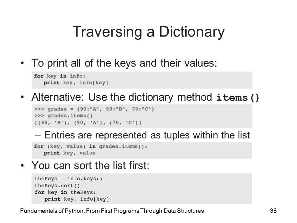 applications of dictionary data structure