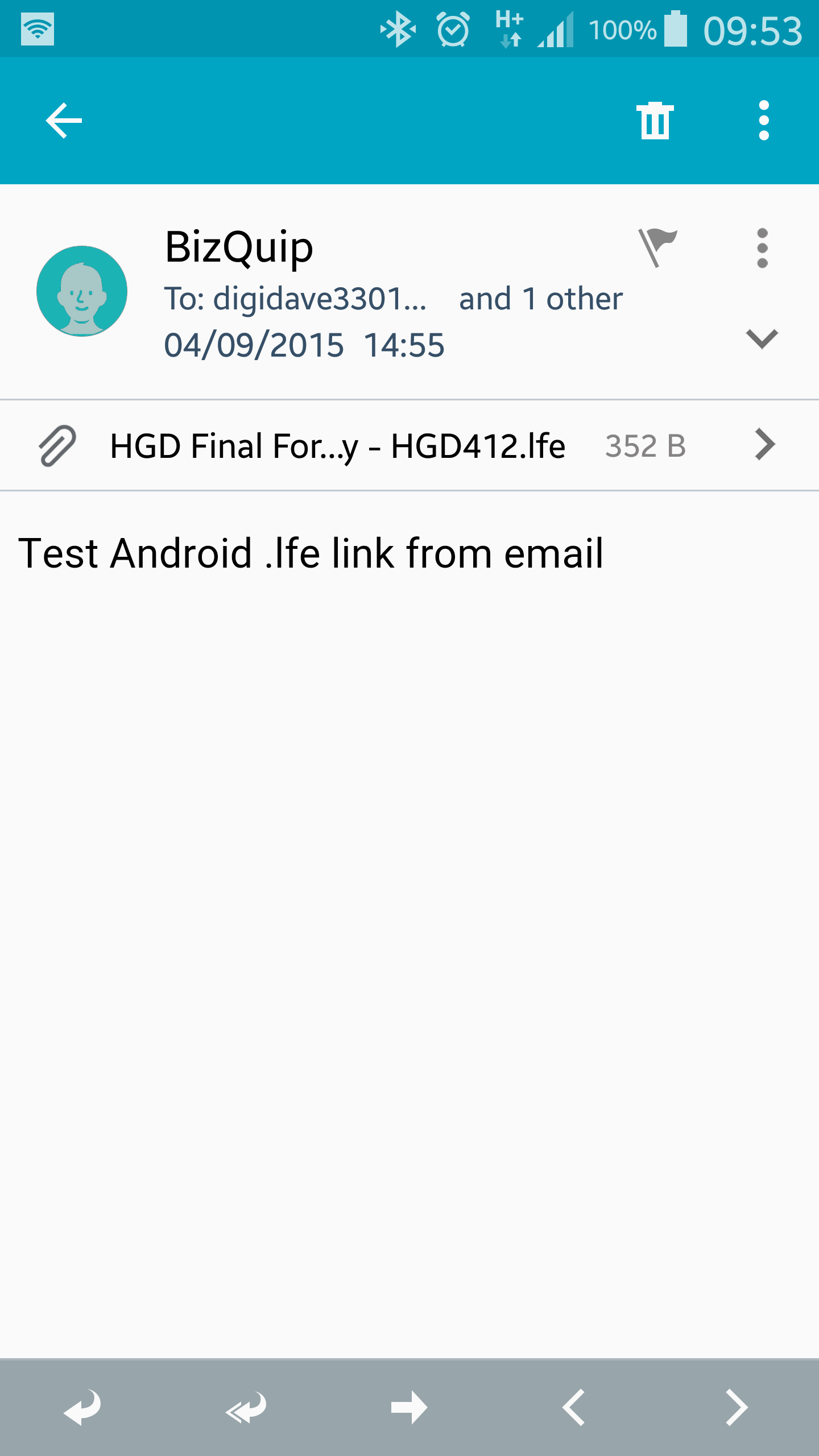 cannot find application to open file yahoo mail android