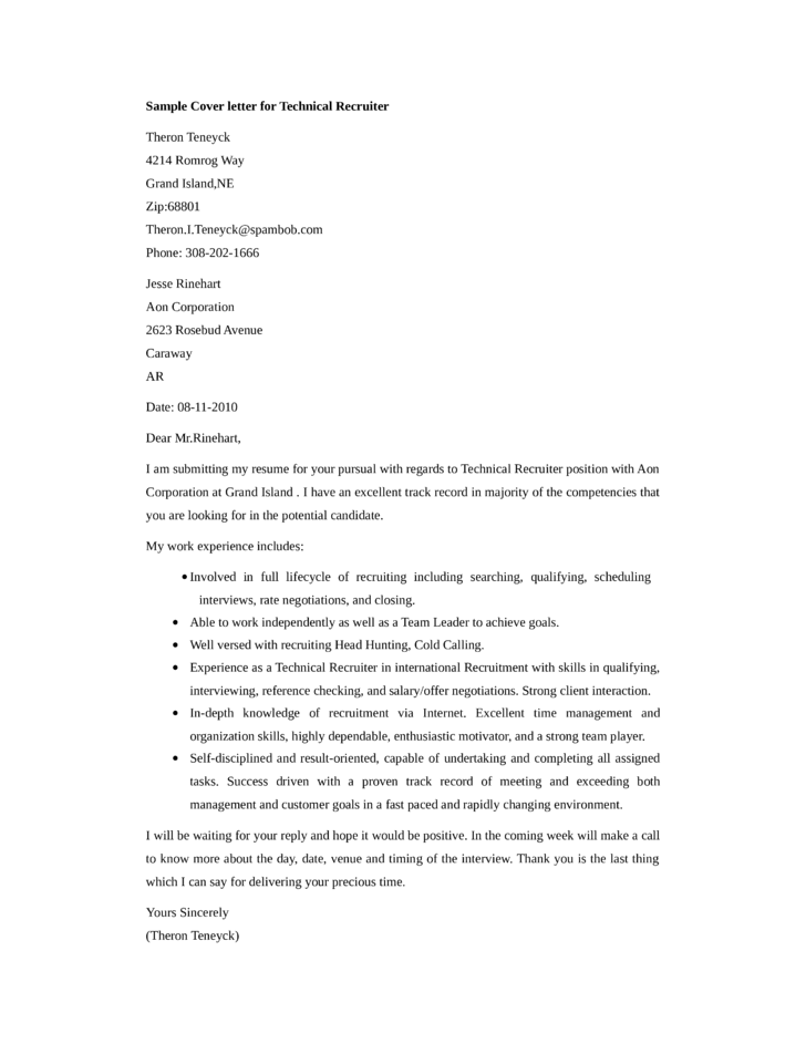 job application email to recruiter