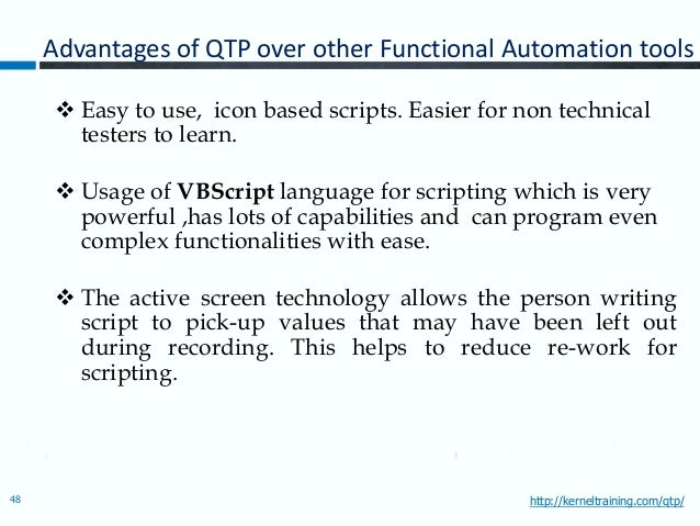 qtp scripts for web based application